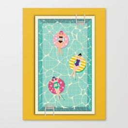 At The Pool Canvas Print