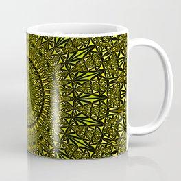 Yellow Kaleidoscope Mandala Coffee Mug