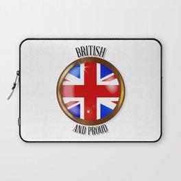 British Proud Flag Button Laptop Sleeve