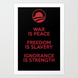 Obama meets Orwell Art Print