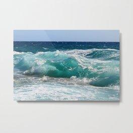 Wave Crashing On The Shore Metal Print