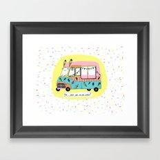 The best car in the world. Ice-cream van Framed Art Print