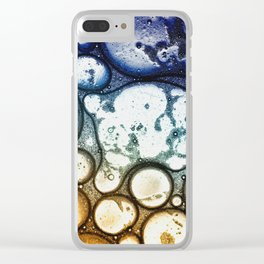 Oil on Water Bubble Drops Abstract I Clear iPhone Case