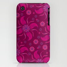Floral Obscura Wine iPhone (3g, 3gs) Slim Case