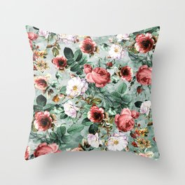 Rpe Seamless Floral Pattern I Throw Pillow