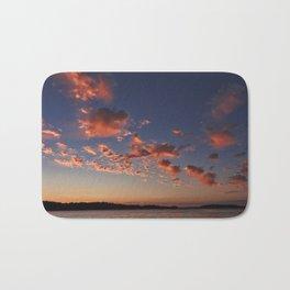 Puffy, pink Puget Sound sunset Bath Mat