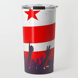Washington DC Flag with Audience Travel Mug