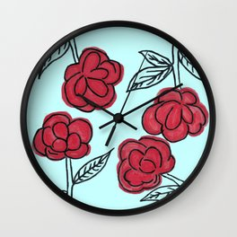 Poppyish Wall Clock