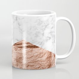 Marble & rose gold foil geometric design Coffee Mug