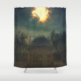 little old observatory Shower Curtain