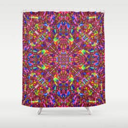 Pink Mandala Pattern Shower Curtain