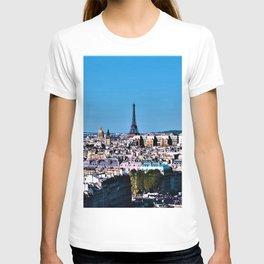 Paris, France & Eiffel Tower at Dawn T-shirt