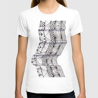 zentangle T-shirts featuring Zentangle Architectural Molding by Vermont Greetings