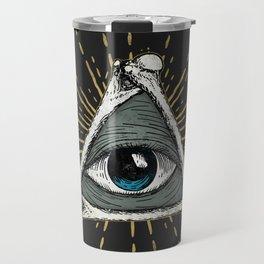 All seeing eye of God Travel Mug