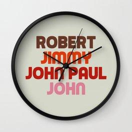 Robert Jimmy JohnPaul John Wall Clock