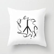 Practice Peace Throw Pillow