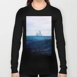 Sailing Ship on the Sea Long Sleeve T-shirt