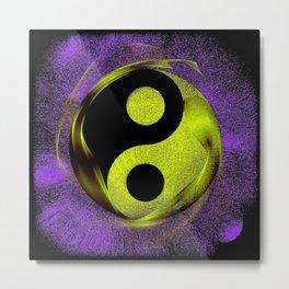 yin yang Ensō zen buddhism purple anise Metal Print