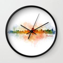 Rome city skyline HQ v03 Wall Clock