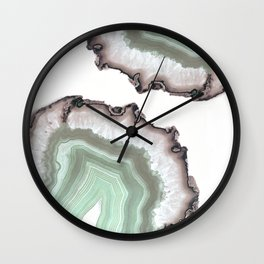 Light Water Agate Wall Clock