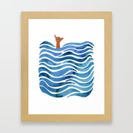 Shaka Framed Art Print