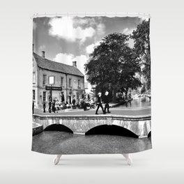 Bourton on the Water Kingsbridge Inn Cotswolds Gloucestershire Shower Curtain