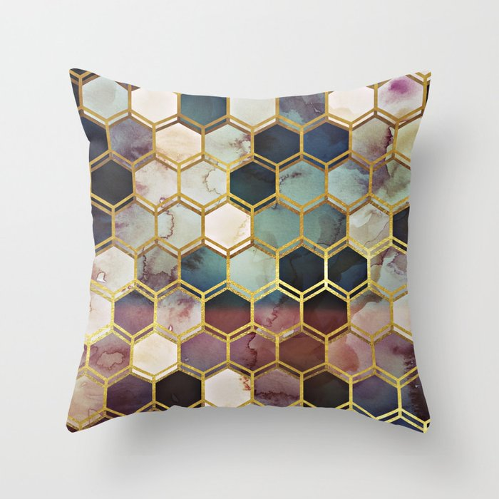 RUGGED MARBLE Throw Pillow