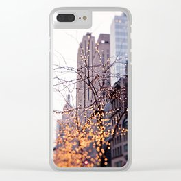 Christmas in New York Clear iPhone Case