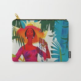 Vintage Caribbean Travel - Cuba Carry-All Pouch