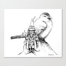 The Bird Post Canvas Print