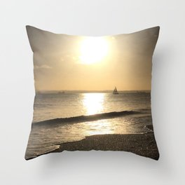 Sail to the sun and back Throw Pillow