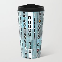 Vowel collage Travel Mug