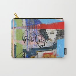 Abstract Mixed Media Compositon V.Threeve Carry-All Pouch