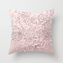 Blush Glitter Dream #1 #shiny #decor #art #society6 Throw Pillow