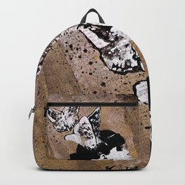 Long Gone Whisper II (street art graffiti painting, girl with butterflies) Backpack