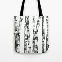 birch Tote Bags featuring Birch    by kristinesarleyart