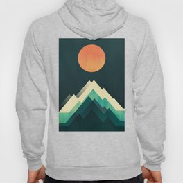 Ablaze on cold mountain Hoody