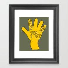 Palmistry Rock and Roll Framed Art Print