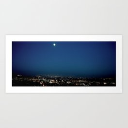 l.a. blur Art Print