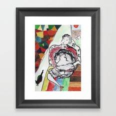 fille se masturbe Framed Art Print
