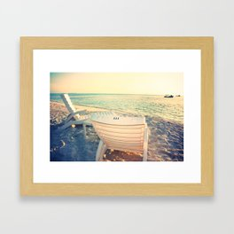 Life's A Beach Framed Art Print