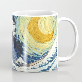 Starry Night Over The Great Wave Off Kanagawa Van Gogh/Hokusai Coffee Mug