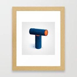 The Letter T Framed Art Print