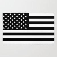flag Area & Throw Rugs featuring Flag by Stephanie Janeczek