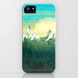 Mountains abowe the blue sky iPhone Case