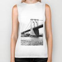 brooklyn bridge Biker Tanks featuring Brooklyn Bridge by Amy Giacomelli