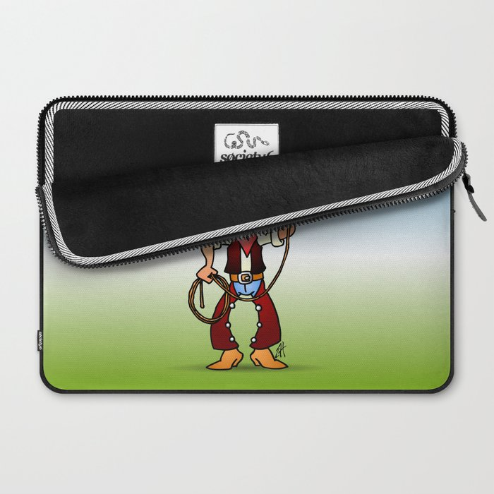 Cowboy with a lasso Laptop Sleeve