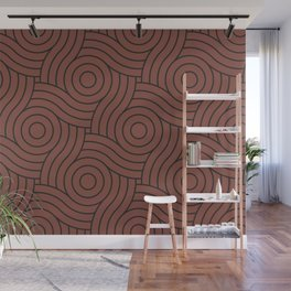 Circle Swirl Pattern Solid Color Dunn Edwards Color of the Year Spice of Life DET439 Wall Mural