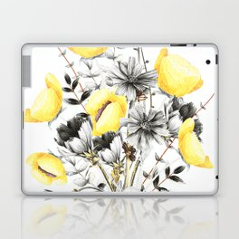 Poppies And Chicory Wildflower Bouquet Laptop & iPad Skin