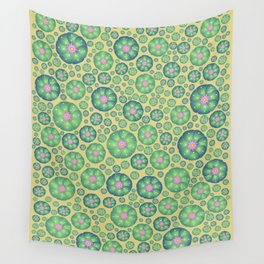 Peyote cactus plant pattern illustration Wall Tapestry